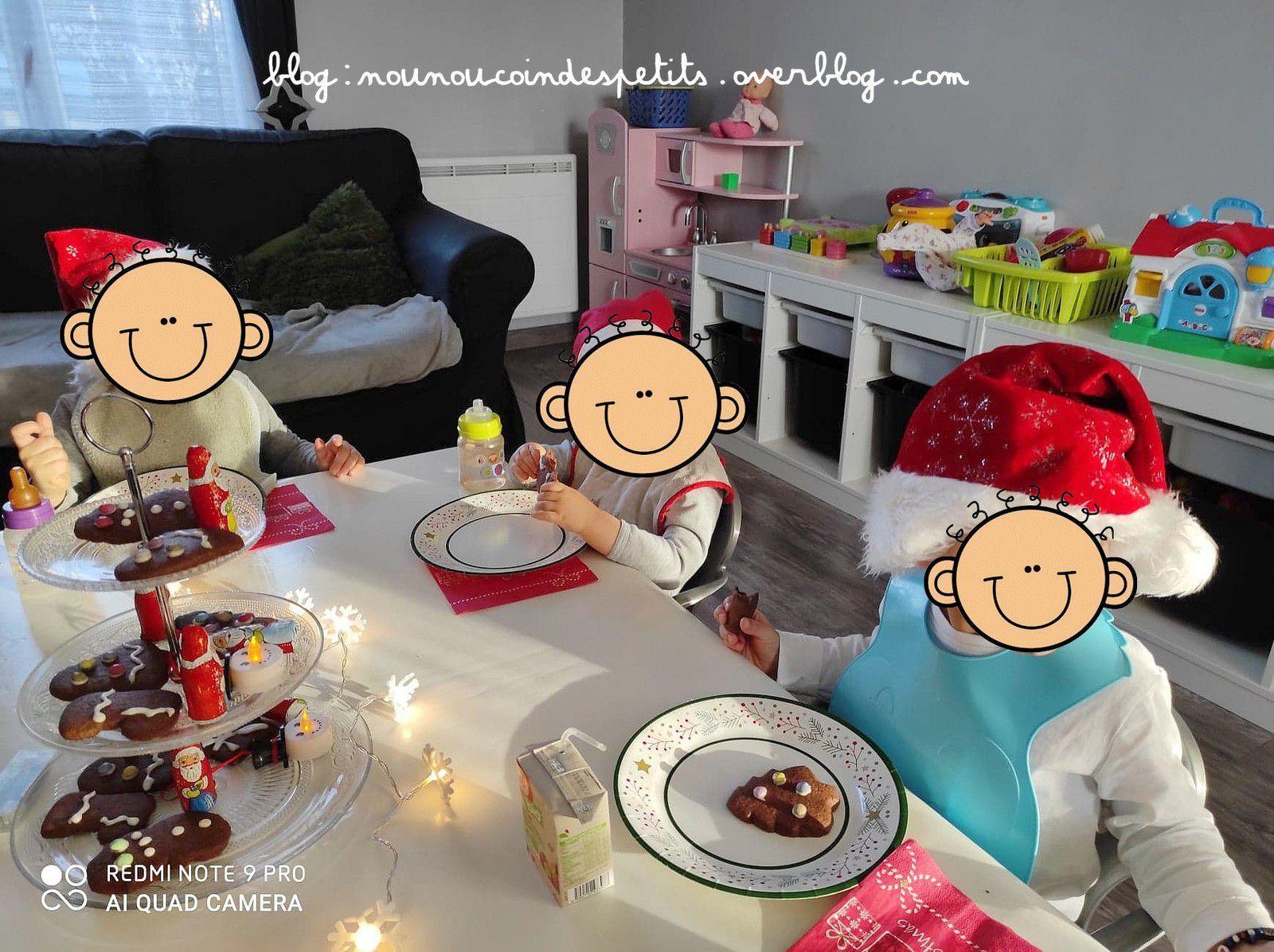 .. Goûter de Noel biscuits chocolat cannelle ..