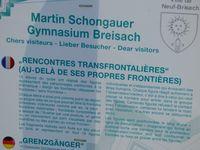 Rencontres transfrontalières vu par le Martin Schongauer Gymnasium de Breisach