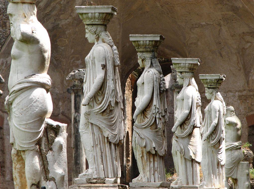 La Villa d'Hadrien, Tibur (Tivoli), près de Rome, Italie.