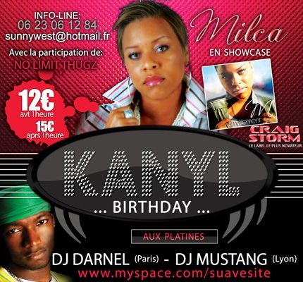 KANYL BIRTHDAY avec MILCA and GUEST .... le 05 Septembre 2008