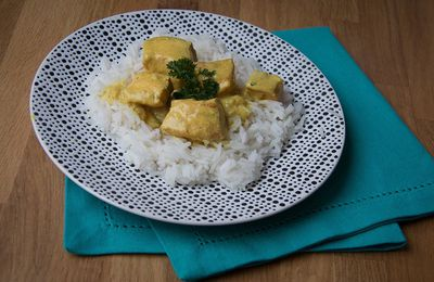 Curry de saumon au lait de coco