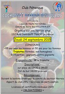 Jeudi 24 septembre 2015 Concours + 55ans au CHR
