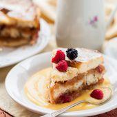 Pudding de pain perdu à la crème anglaise