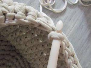 Avec le kit « We are Knitters », je réalise une panière en crochet