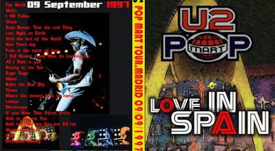 U2 -PopMart Tour -09/09/1997 -Madrid -Espagne -Estadio Vincente Calderon
