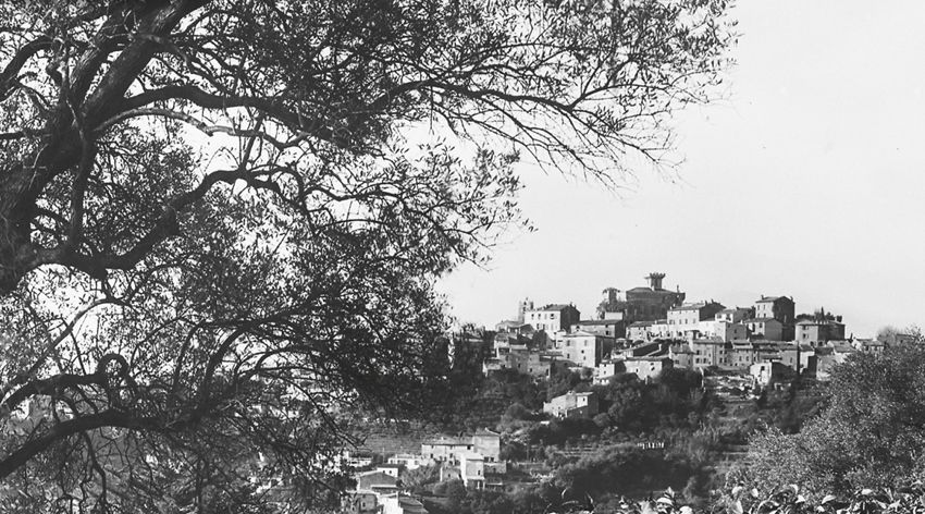 The Castle and the city of Cagnes - sur - Mer.