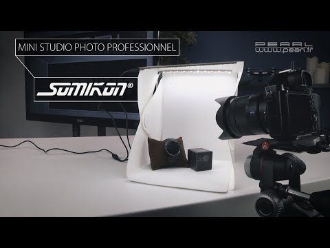 Test d'un mini studio photo - photographie commerciale publicitaire