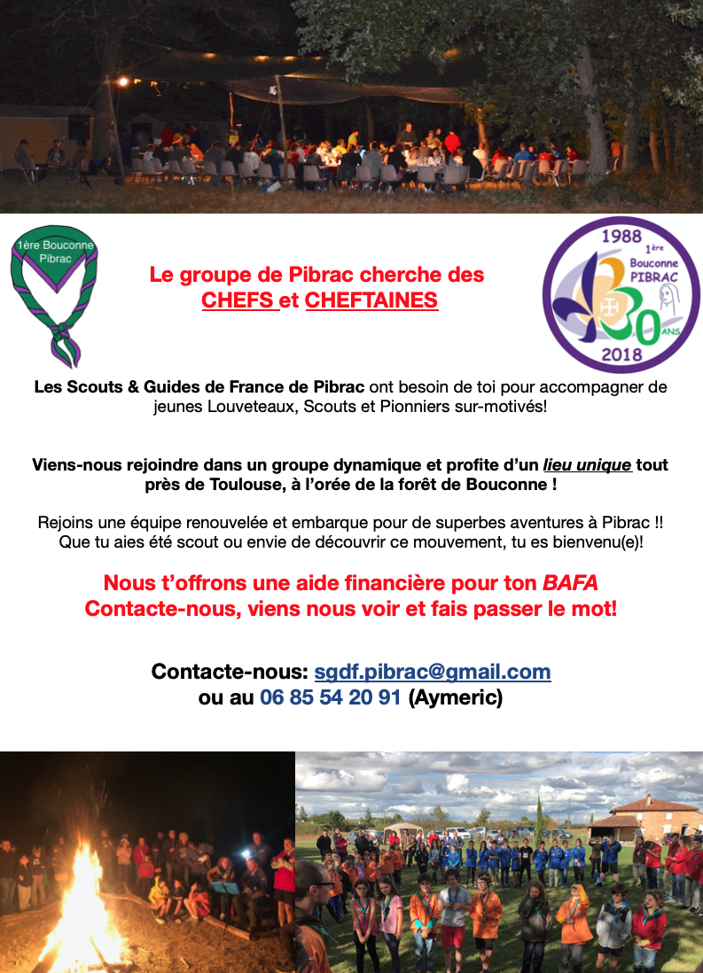 Appel des Scouts de France !