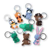 Forest Animal Key Tag Set