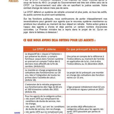 RÉFORME DES RETRAITES : LE COMPTE N'Y EST PAS !