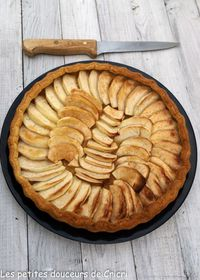 Tarte aux pommes et caramel