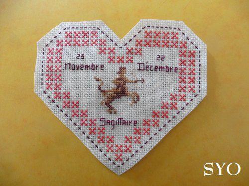 Cœur Valentin Zodiaque: le Sagittaire face A