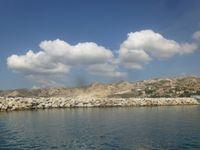 Marseille, approche de L'Estaque par la navette, port et village, Cl. Elisabeth Poulain