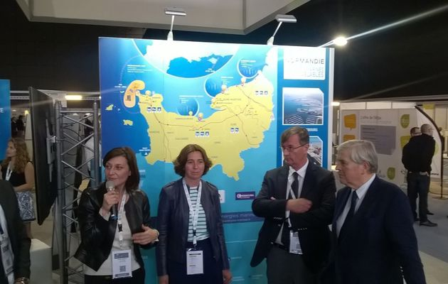 Energies marines : Cherbourg-en-Cotentin au salon Seanergy à Biarritz