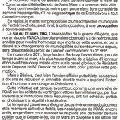 """""""Béziers : une provocation à double détente !"""" Un article de Michel SABOURDY *** LES COMMUNIQUES LAISSENT INDIFFERENTS MENARD *** Seule la Justice peut le mettre hors d'état de nuire !!!"""