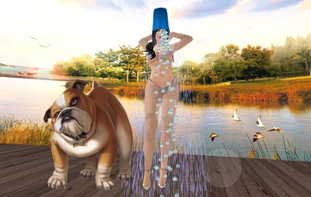 Ice Bucket Challenge in Second Life whith Fredylajoie and Henriette