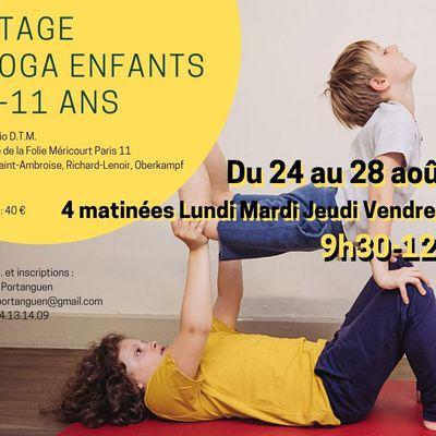 Stage de yoga enfants 24-28 août