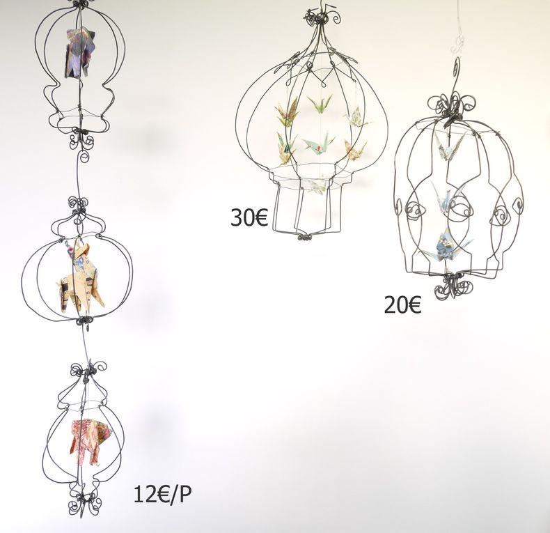 Rebecca expose ses créations en fil de fer en Décembre 2020