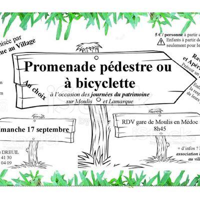 Promenade à pieds ou en vélo