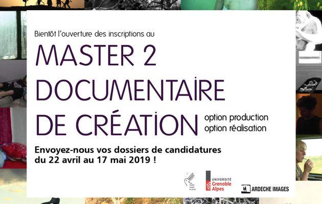 Bientôt l'ouverture des inscriptions au Master 2 Documentaire de création !