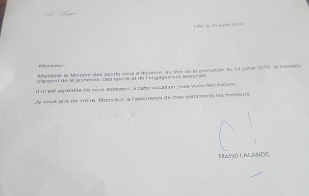 MEDAILLE  D'ARGENT  ATTRIBUEE  A  JEAN-CLAUDE GOERENS