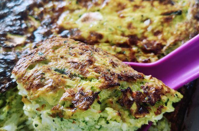 Courgettine ou gratin de courgette au riz