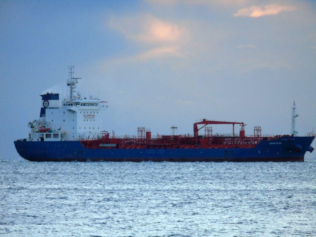 AMUR STAR , arrivant dans le port de Toulon le 15 janvier 2017