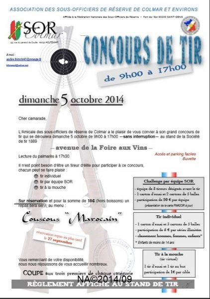 5 octobre 2014, le traditionnel Tir ASOR Colmar
