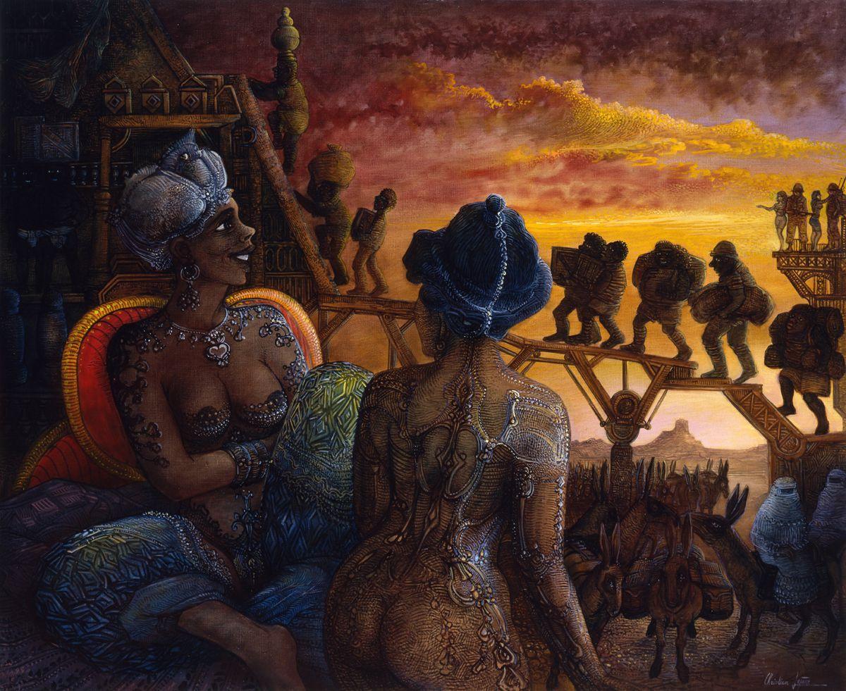 """""""Trafic sous influence"""" - huile sur toile - 73 x 60 cm -  2006"""