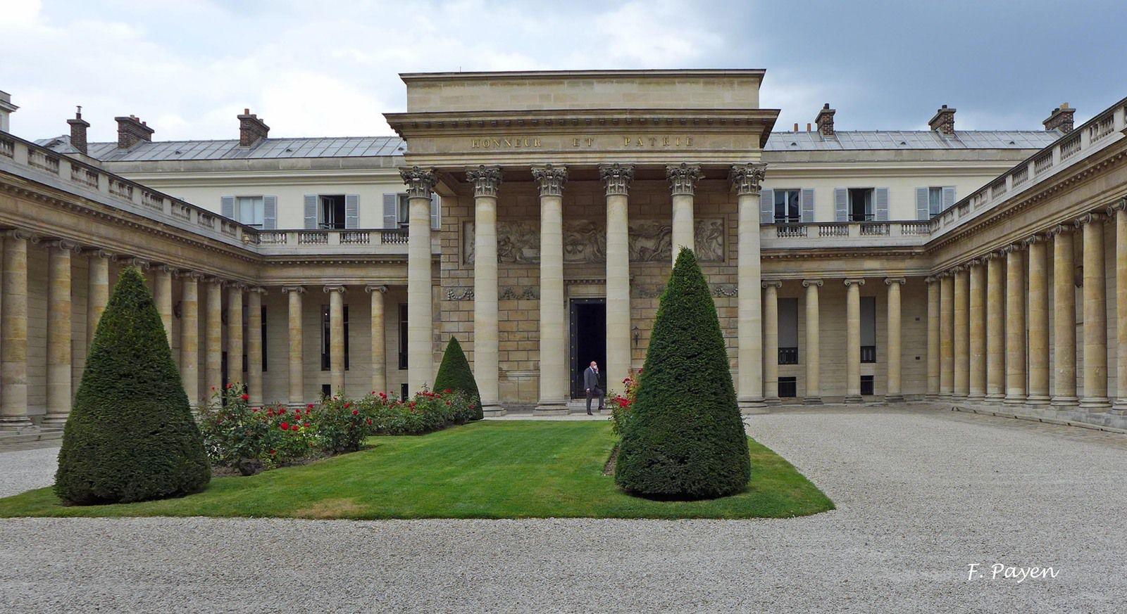 Palais de la Légion d'honneur : la cour d'honneur.