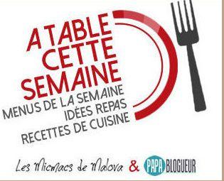 """Menu """" A Table cette semaine """" #75"""