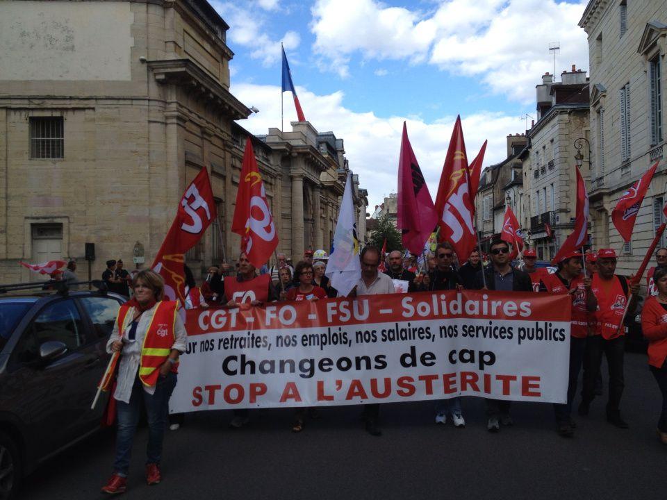 Côte- d'or - Dijon : 2000 manifestants contre la réforme des retraites - 110913