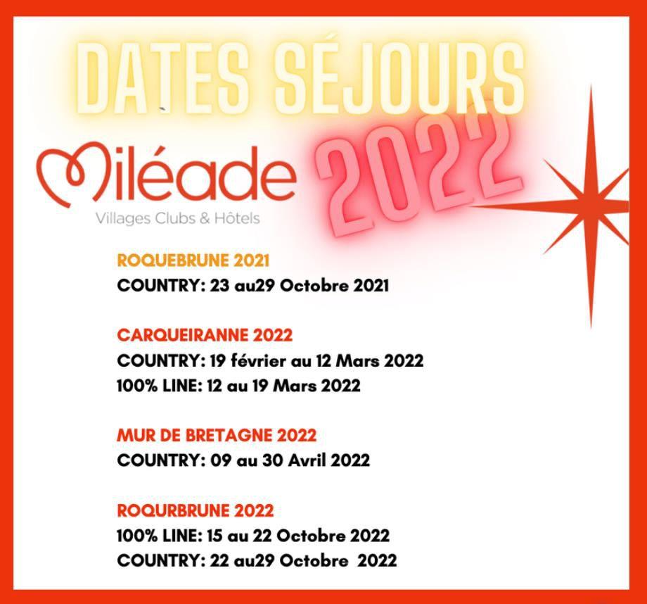 nouvelles dates...