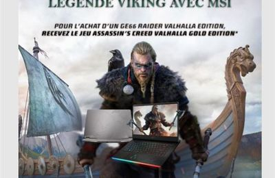 Créez votre propre légende viking avec le notebook GE66 Raider Valhalla Limited Edition (  #AssassinsCreed  #MSI )