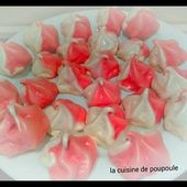 Meringue bicolore (girly) ou thermomix ou Kitchenaid - La cuisine de poupoule