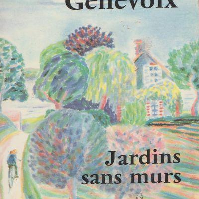 A livre ouvert .... Jardins sans murs de Maurice Genevoix