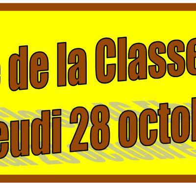 Rencontre  de La Classe 46 Elargie le jeudi 28 octobre 2021