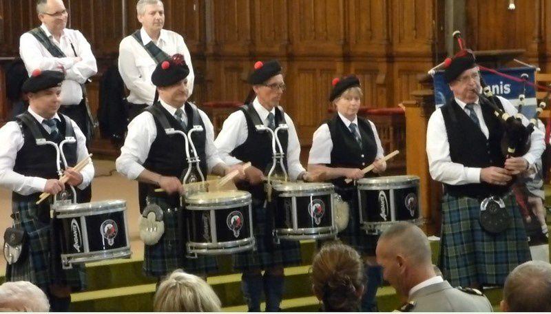 Les Celtic Ried's Pipers et l'Orphéon Municipal de Mulhouse à Colmar