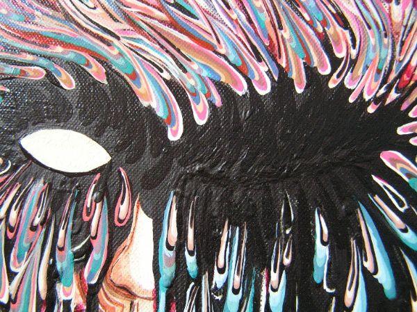 """<h2>Art brut ou pas? Tableau acrylique</h2> <p>2005 Toile gouache acrylique cire - Cette toile 120 x 80 cm a été réalisée à la gouache et acrylique avec découpage à la cire. <br>Avec un certain éclairage des larmes à l'aspect brillant et liquide semblent réellement couler. <br>Les titres descriptions sont actuellement indisponible. Bug d'OB<br><a href=""""http://zeporg.over-blog.org/""""  target=""""_blank"""" title=""""Poze est une station d'édition artistique et littéraire"""">Poze est toujours artistique</a>"""