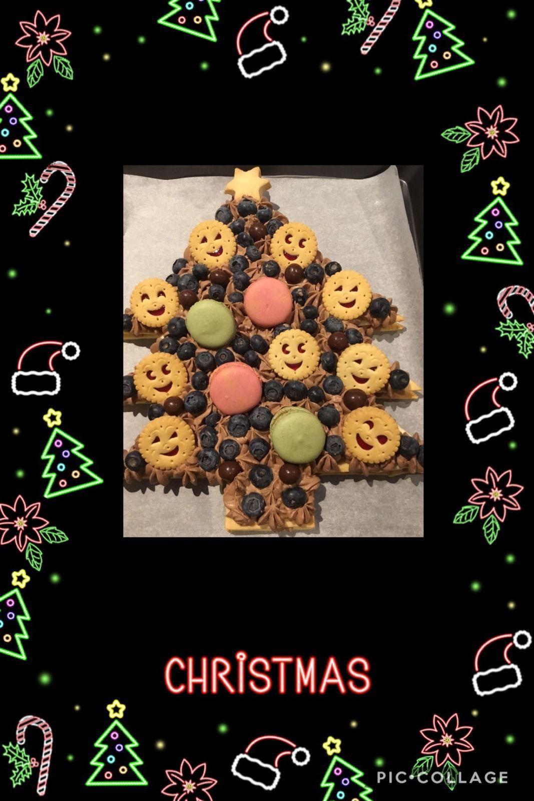 Gâteau sapin de Noël