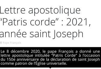 VIVRE 2021 AVEC SAINT JOSEPH