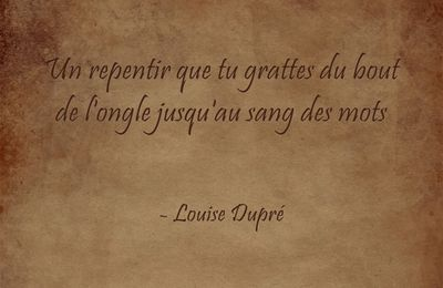 Fulguration - Louise Dupré