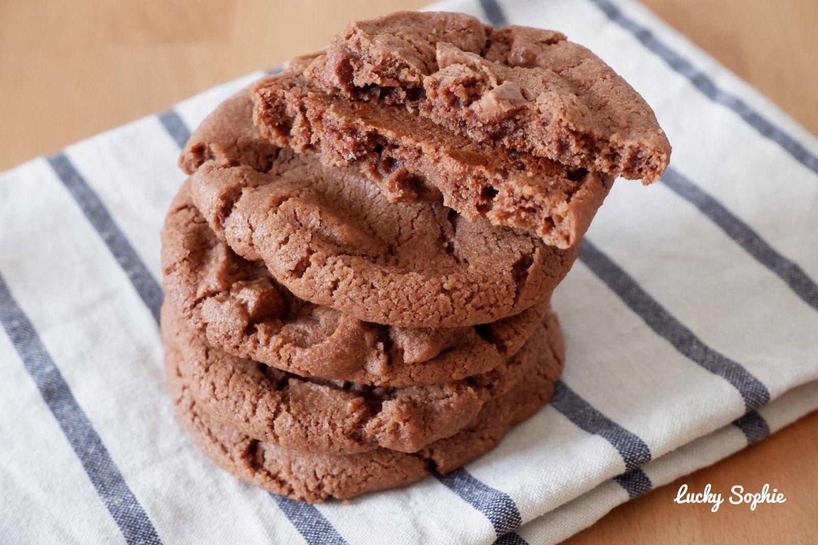 Cookies chocolat et fleur de sel façon Pierre Hermé