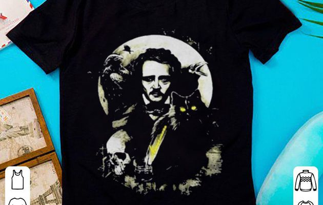 Hot The Raven and The Black Cat Edgar Allan Poe shirt