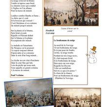"""La page poésie d'Odile : """"Plaisirs d'hiver"""""""