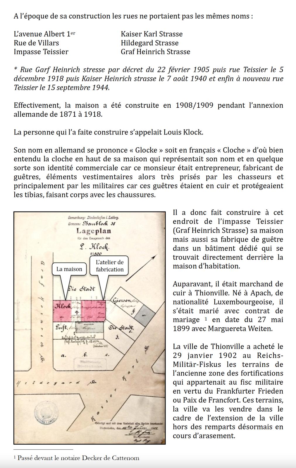 """1908/1910 - Deux maisons """"remarquables"""" à Thionville"""