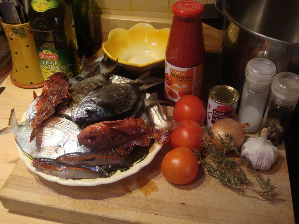 Soupe de poisson en photo vrac
