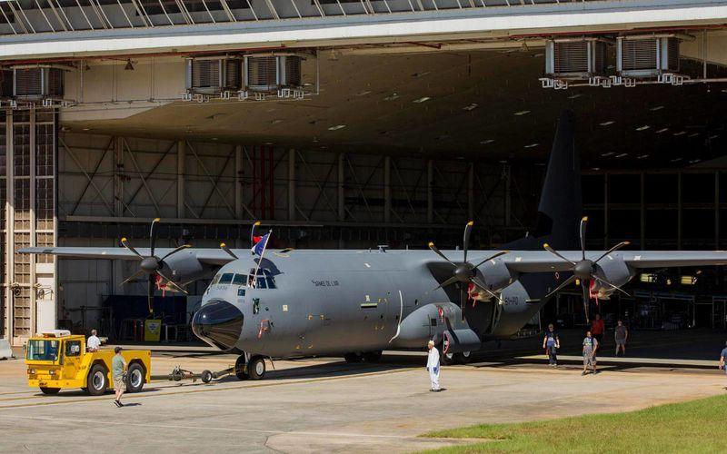 Le premier C-130J Super Hercules français est sorti des chaînes d'assemblage de Lockheed Martin
