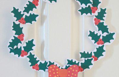 Tuto Noël : Couronne de houx à imprimer !