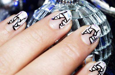 Nail Art de Fête French Manucure drapée
